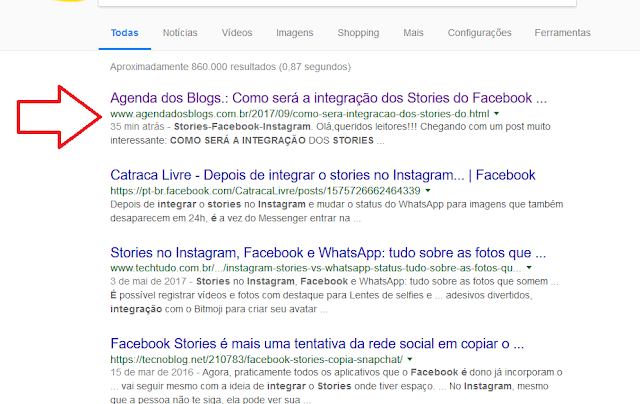 Blog Agenda dos Blogs no Google