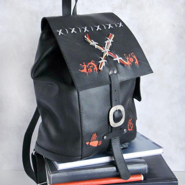 Черный рюкзак кожа, рюкзак женский городской - материал натуральная кожа, цвет черный. Компактный, стильный
