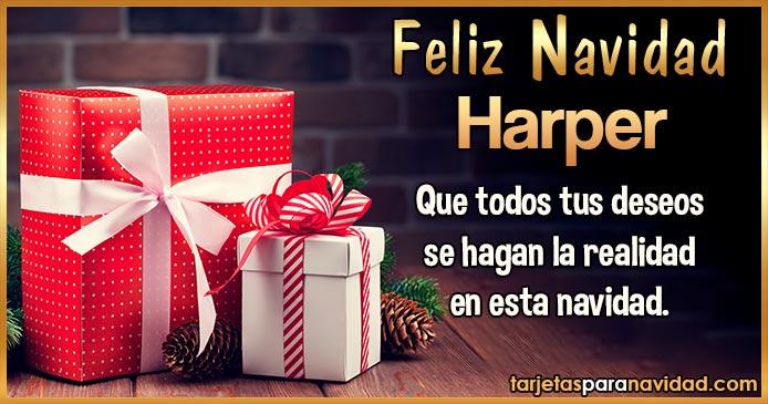 Feliz Navidad Harper