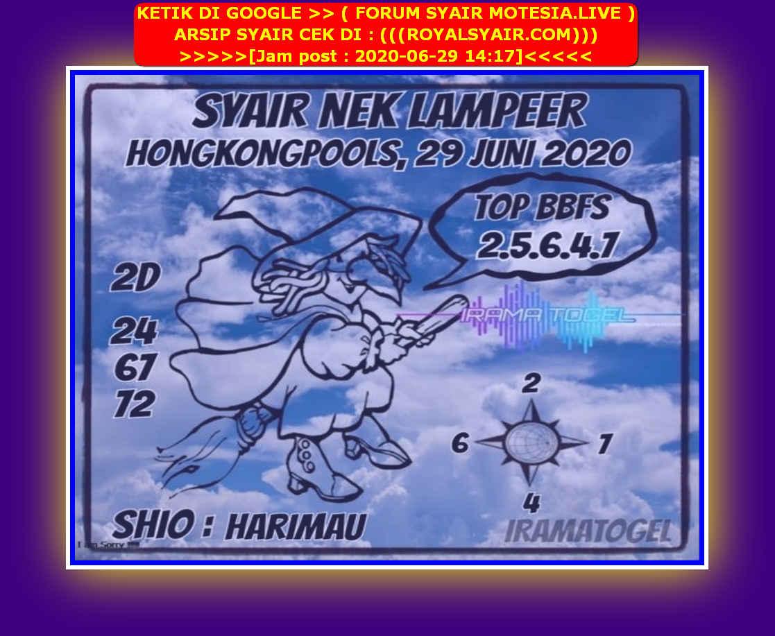 Kode syair Hongkong Senin 29 Juni 2020 198