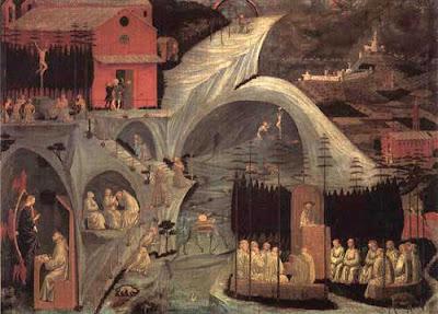 """Il dipinto """"Scene di vita eremitica"""", conosciuto anche come """"La Tebaide"""""""