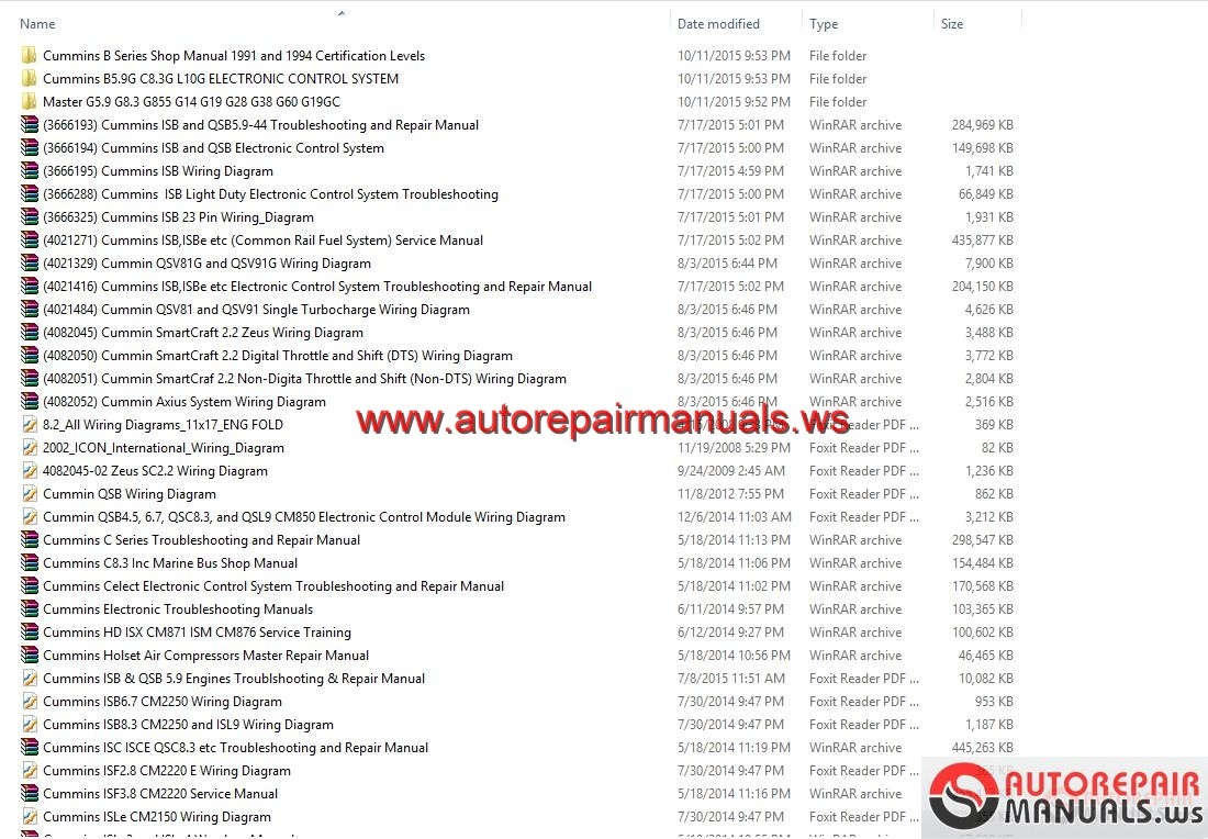 Wiring Diagram Cummins Qsx15 : Free auto repair manual cummins wiring diagram full dvd