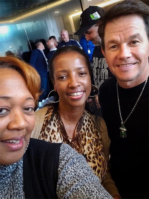 Janet meets actor Mark Wahlberg