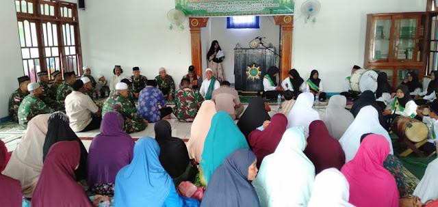 Satgas Raider 300 Menghadiri Acara Maulid Nabi Muhammad SAW