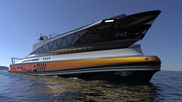 Menacing 132m Megayacht by Lazzarini