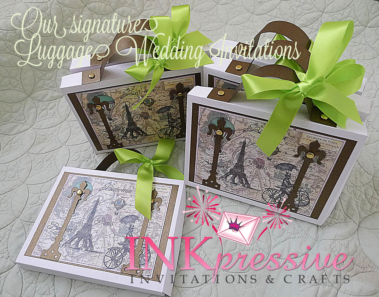 Up Themed Wedding Invitations: Travel Theme Wedding Invitation Suitcase