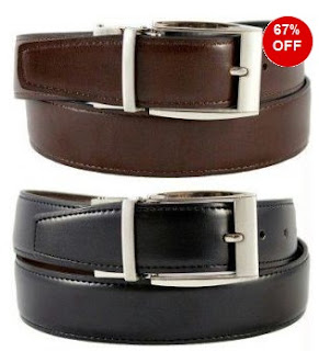 Get Reversible Formal Leather Belt Black & Brown worth Rs.599  for Rs.149 Only @ Rediff