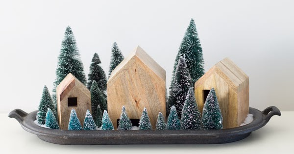 Simple Modern Farmhouse Christmas Village Display The Inspired Hive