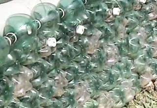 Botellas de pet recicladas