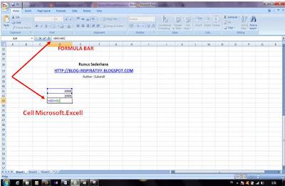 Rumus-rumus dasar pada Microsoft Excel part03