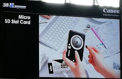Canon iNSPiC dilengkapi Slot Micro SD