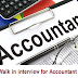 Walk in interview for Accountant