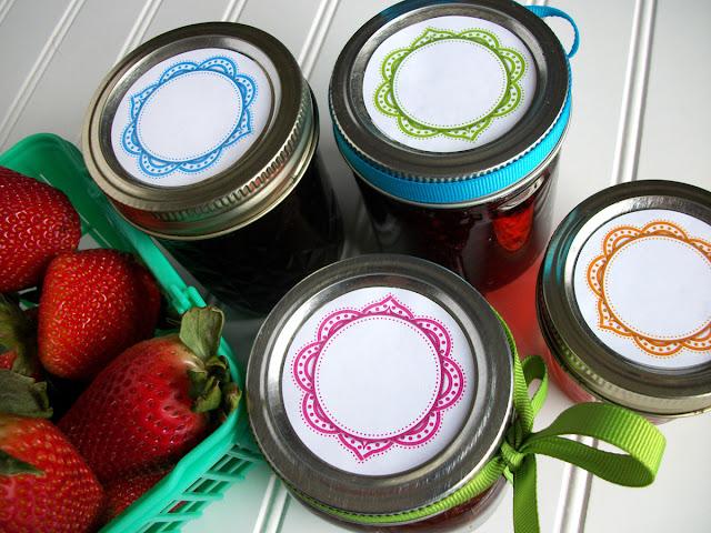 Mandala Canning Jar Labels