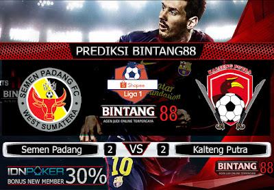 Prediksi Skor Semen Padang vs Kalteng Putra 21 November 2019