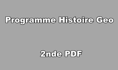 Programme Histoire Geo Seconde PDF