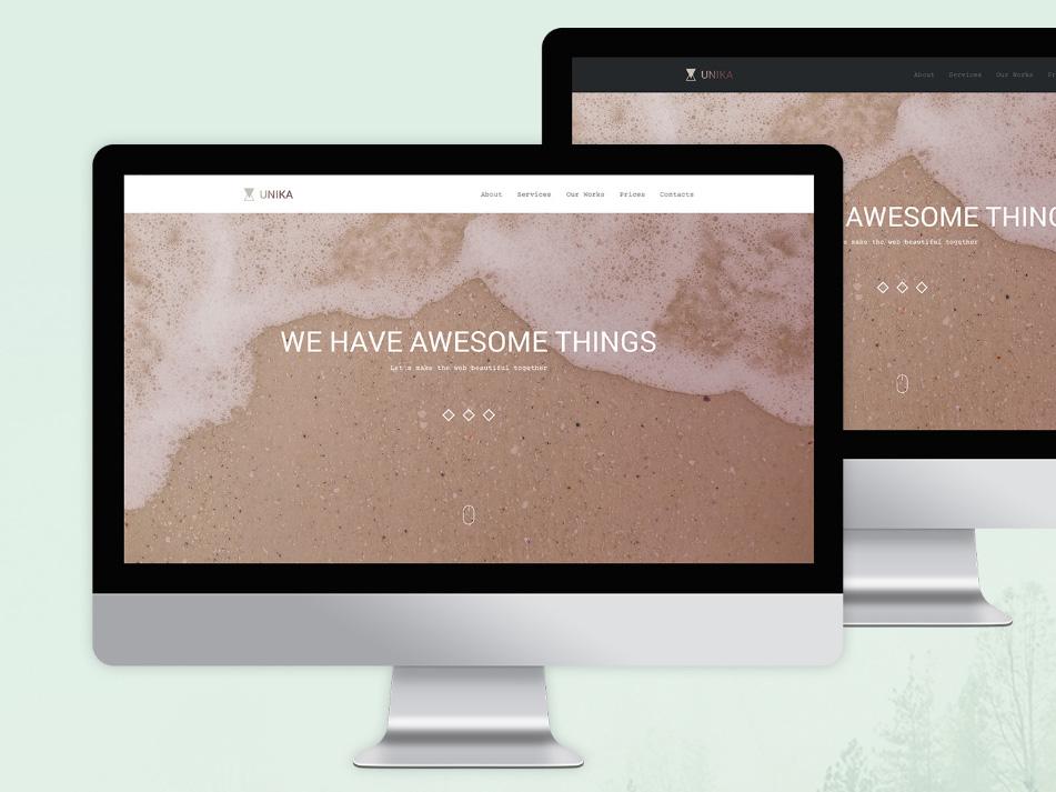 Unika : Free One Page PSD Template
