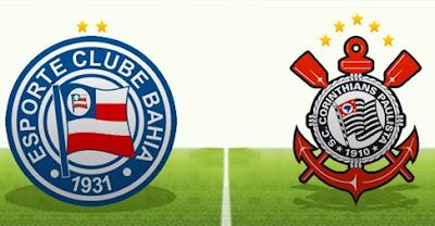 Horário de Bahia e Corinthians pela série A do Brasileirão - 13/06/2018
