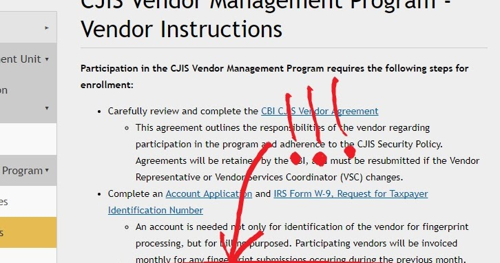 Change to the CJIS Vendor Program