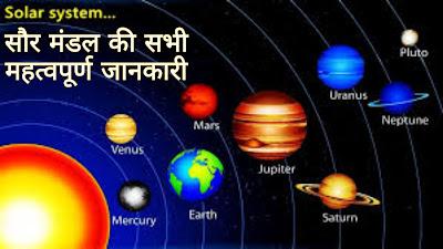 Solar System - सौरमंडल क्या है इससे संबंधित सामान्य ज्ञान Gk In Hindi