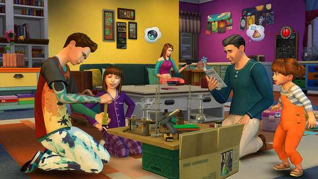 Simlish, the official language of The Sims