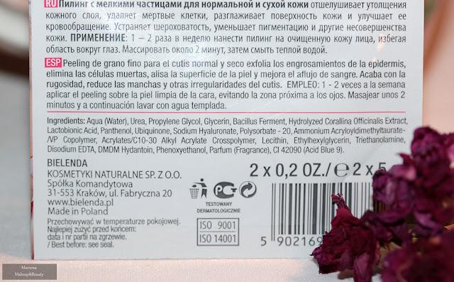 Enzymatyczny peeling dotleniający efekt Aqua-Oxybrazji bielenda