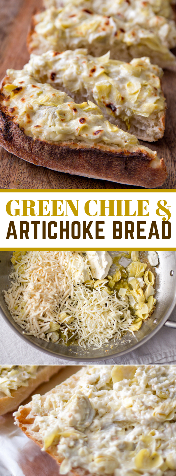 GREEN CHILE & ARTICHOKE BREAD #appetizers #lunch