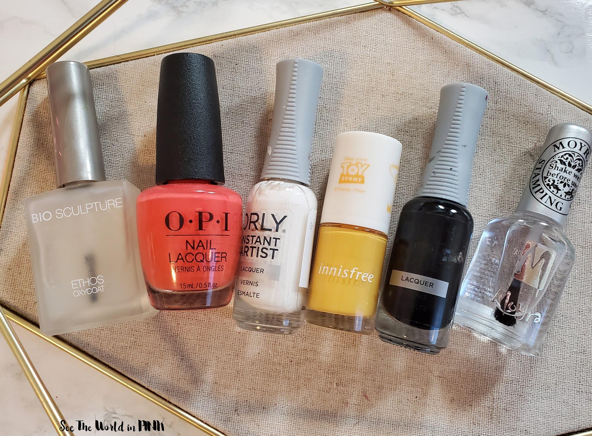 Manicure Monday - Bright, Happy Face Nails