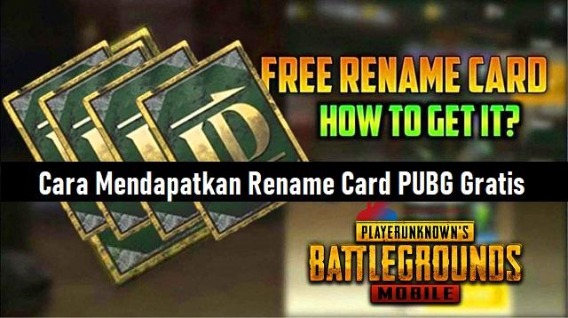 Cara Mendapatkan Rename Card PUBG Gratis