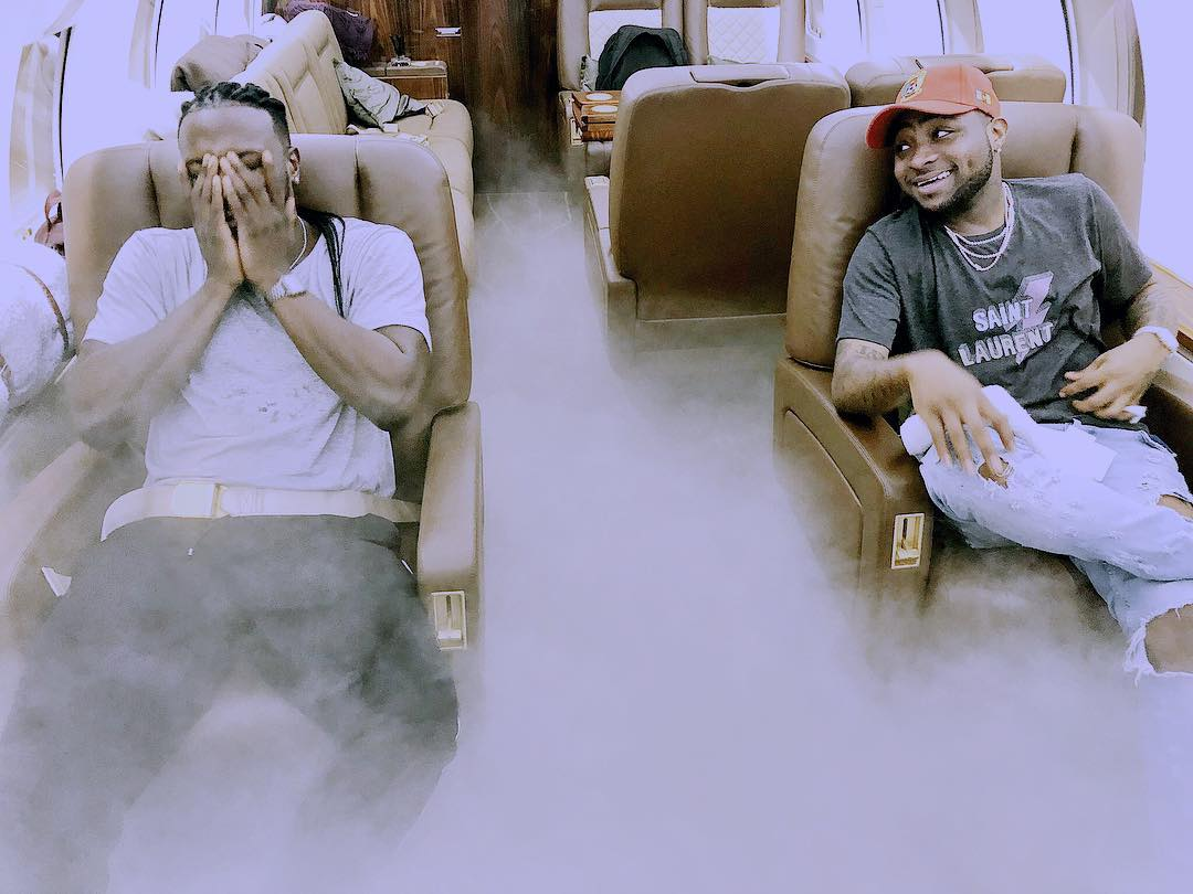 Davido Fly Private Jet Back To Nigeria As He Declares