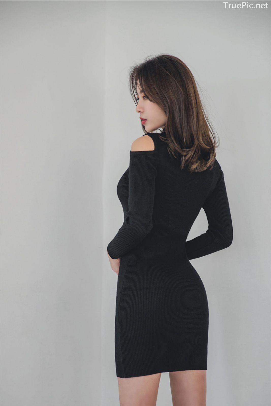 Korean fashion model - An Seo Rin - Woolen office dress collection - TruePic.net - Picture 4
