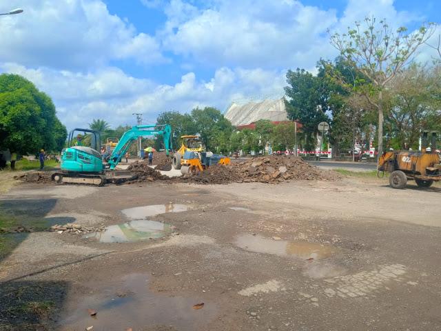 Tak Pasang Papan Proyek Proyek Jalan STE Dipertanyakan