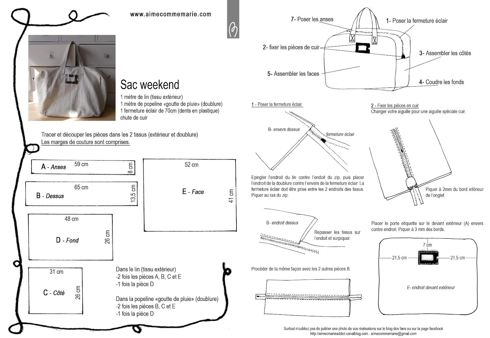 sac weekend blog des fans de aime comme marie. Black Bedroom Furniture Sets. Home Design Ideas