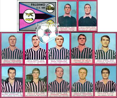 Calciatori panini plaermo 1967/68