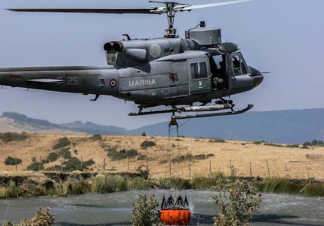 elicottero marina operazione antincendio