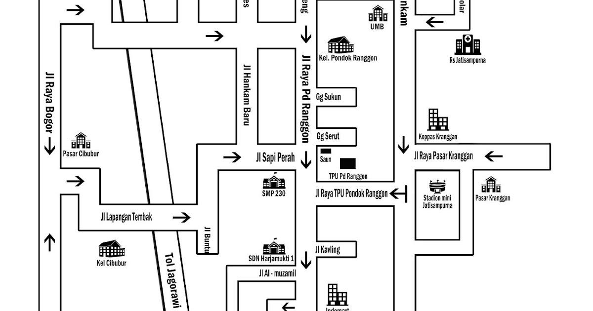 kosongenam: peta undangan cibubur/pondok ranggon/depok