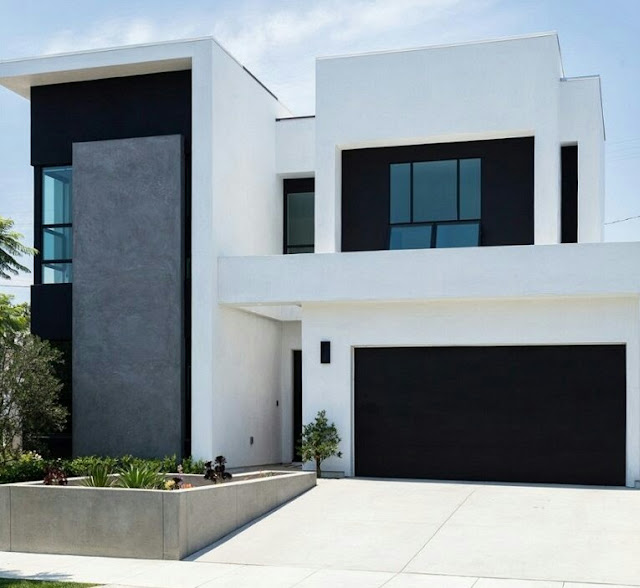 House Design 2 Floor Monochrome Concept