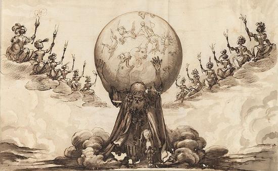 """Illustration from """"Andrómeda y Perseo"""" by Pedro Calderón de la Barca (ca.1653)"""