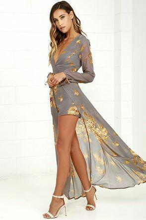 Gold floral Gery romper Dress