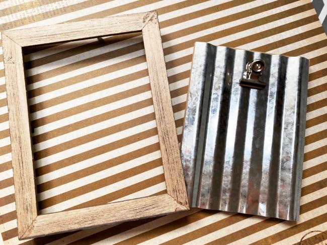 frame and corrugated metal taken apart