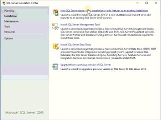 Installasi SQL Server 2016
