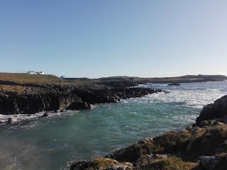 zátoka v rybárskej dedine Portnahaven