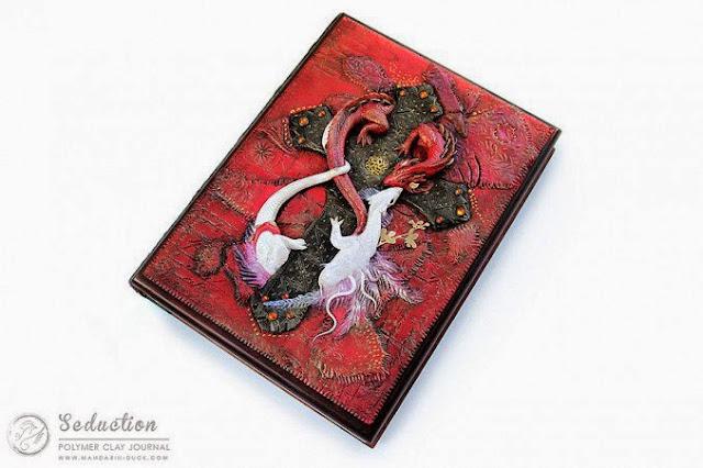 Cubierta de libro con una dragon