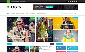 Dens Magazine blogger template