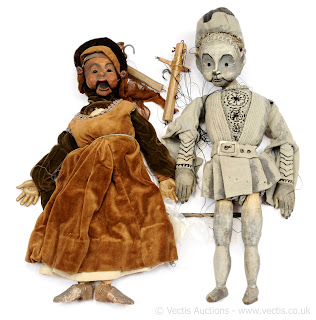 "Also in the collection are two further puppets created by Joy. Septimus and Phoebe, the puppets were designed and created for the show ""The Adventures of Septimus"""