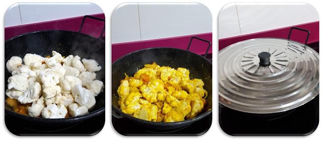 Paso a paso Curry de coliflor