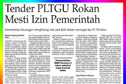 Rokan Block PLTGU Auction Must Have Government Permission