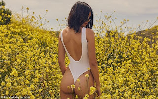 Kendall Jenner booty displayed in clothing line
