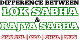 Difference Between Lok Sabha and Rajya Sabha in Hindi
