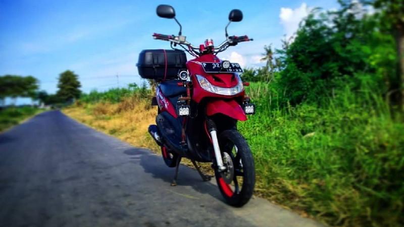gambar foto modifikasi motor mio matic touring