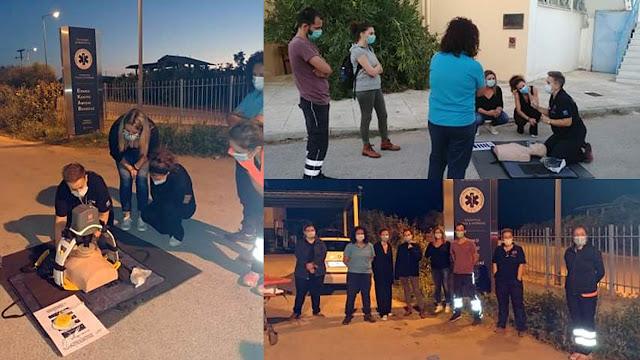 Εκπαίδευση σπουδαστών του ΔΙΕΚ Άργους από το ΕΚΑΒ Ναυπλίου